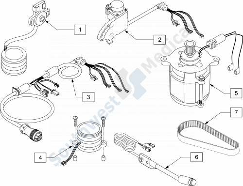 Xtender Internal Replacement Parts parts diagram