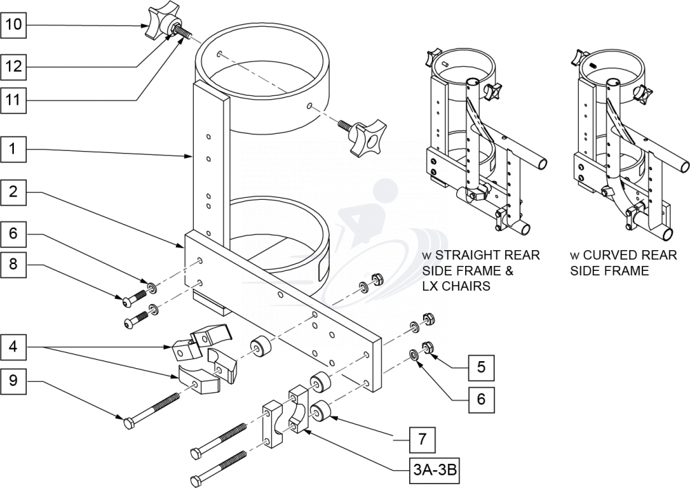 Oxygen Tank Holder parts diagram
