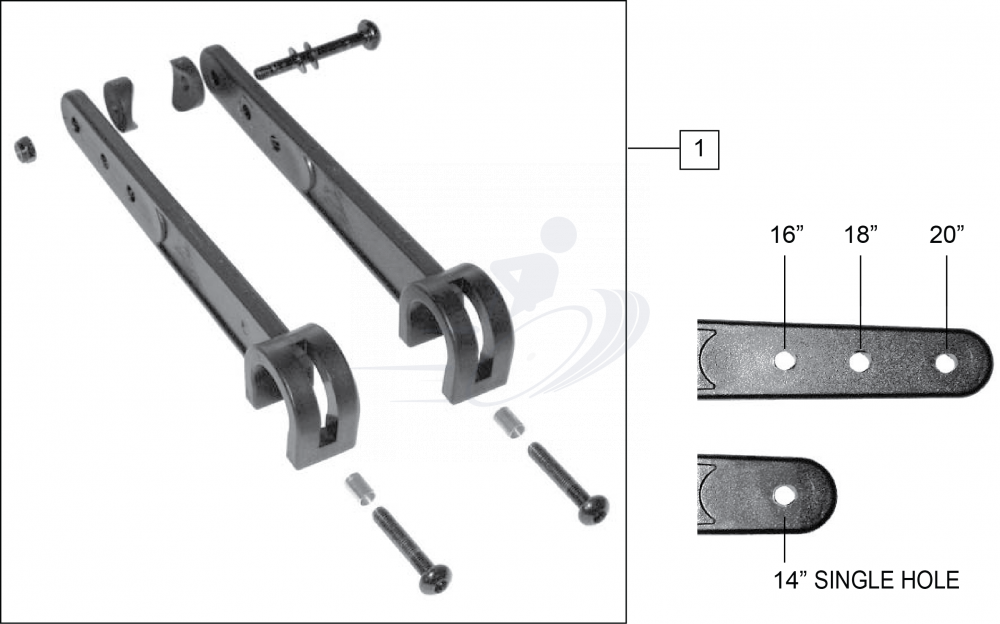 X Hinge parts diagram