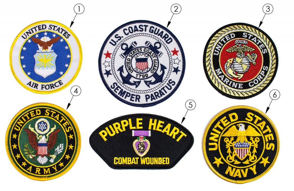 Military Patches parts diagram