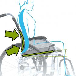 Ergonomic Wheelchair Back Design