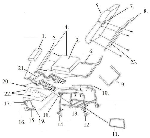 Parts For D574 parts diagram