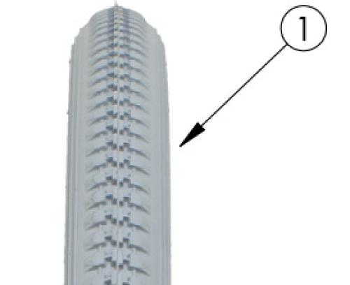 Rogue Xp Pneumatic Tire parts diagram