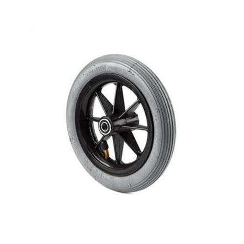 Invacare 8 x 1-1/4 in. 8-Spoke Black Caster Wheel, Pneumatic