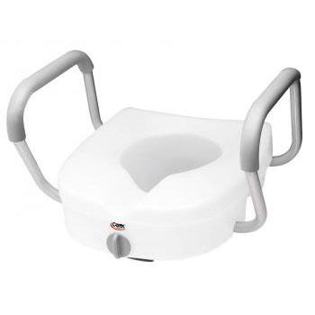 E-Z Lock Raised Toilet Seat w/ Padded Armrests