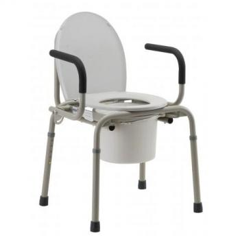 Drop Arm Commode w/ Padded Handles
