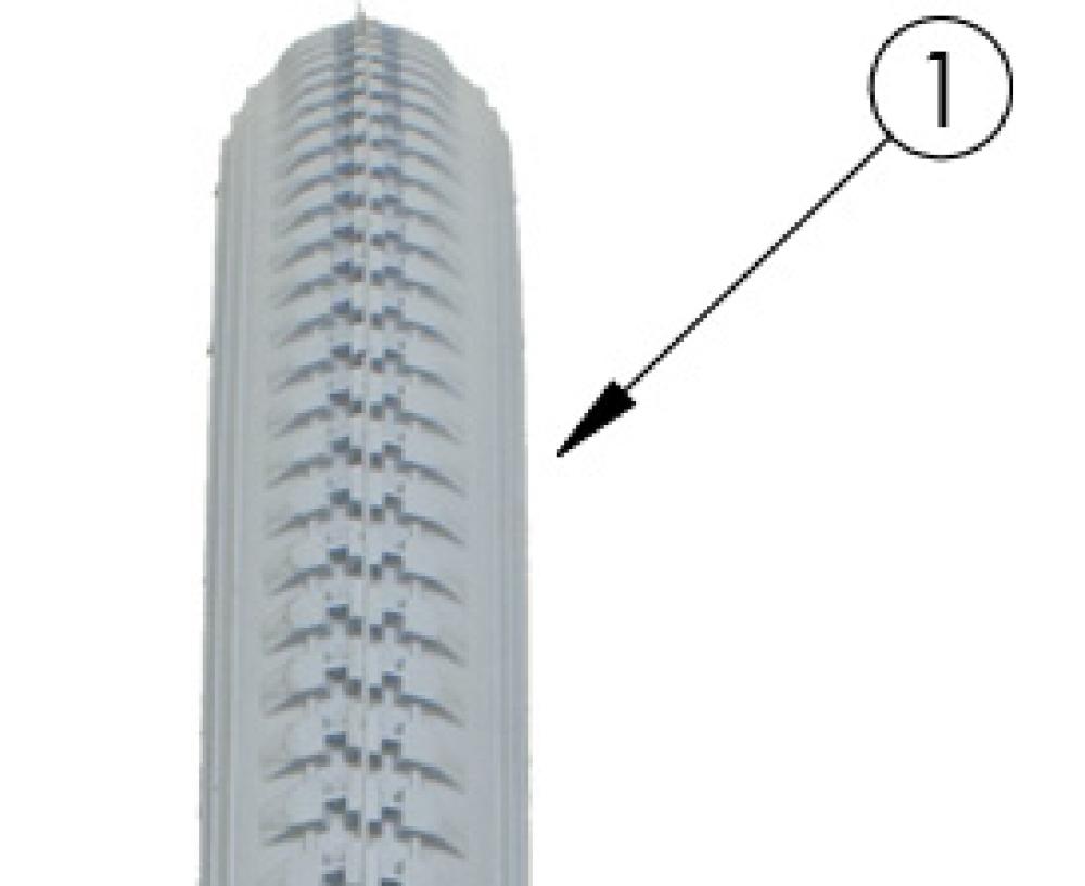 Little Wave Pneumatic Tire parts diagram