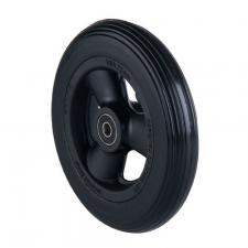 6 x 1-1/4 in Black Poly Caster Wheel, Complete