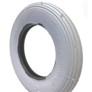6 x 1 1/4 Pneumatic Wheelchair Caster Tire, Light Gray