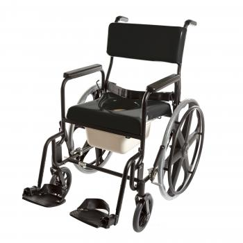 ActiveAid 480 Stainless Steel Shower Commode Chair w/ 8
