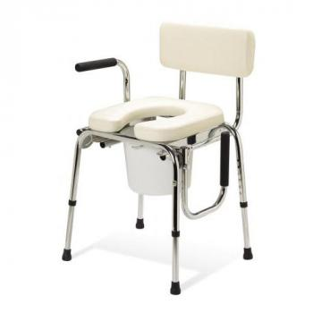 Deluxe Padded Drop Arm Commode
