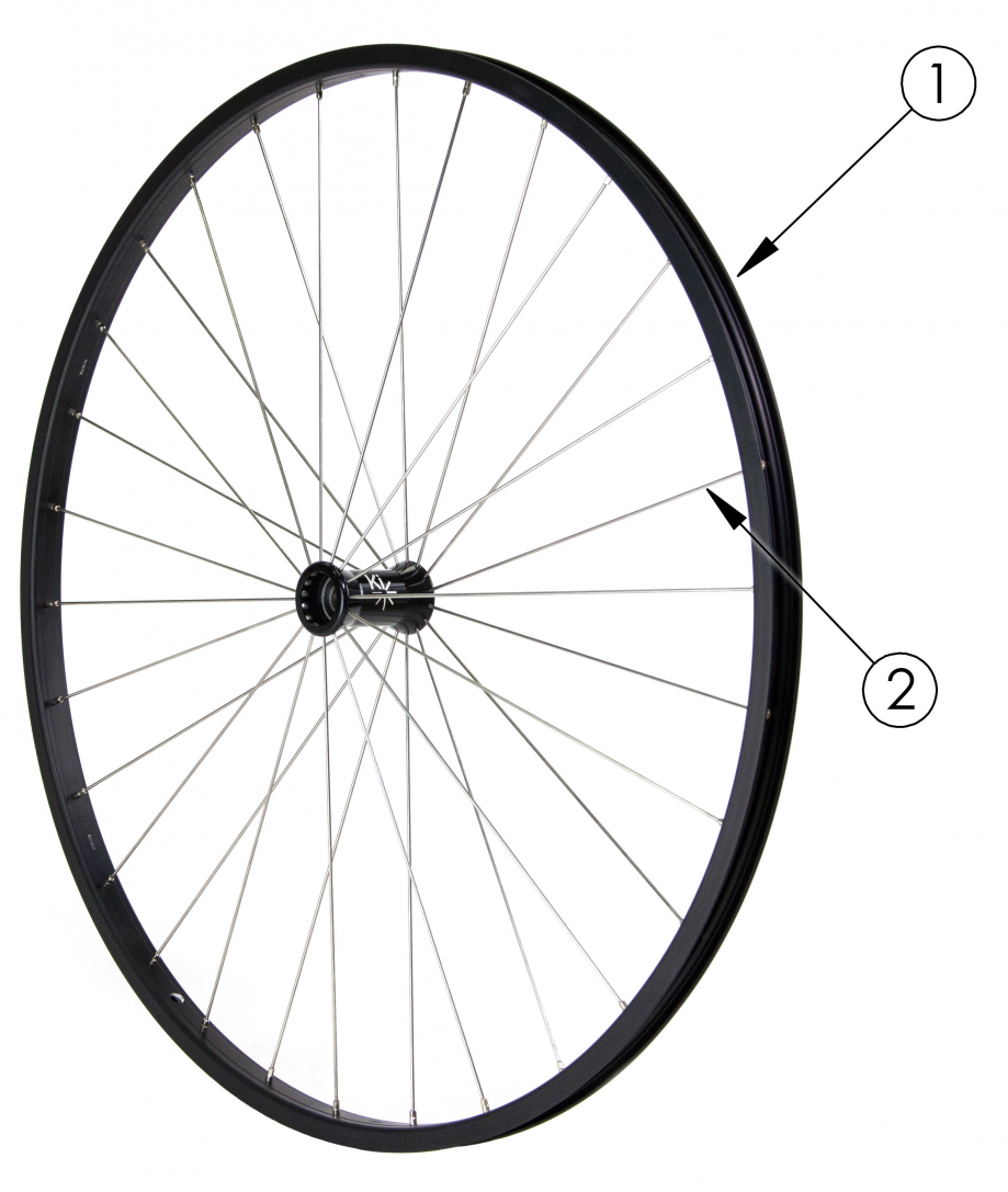 (discontinued) Little Wave Spoke Wheel parts diagram