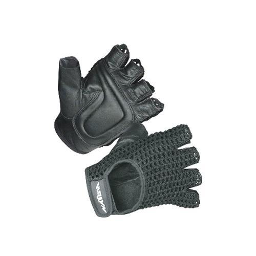 Hatch Mesh Back Wheelchair Gloves - Black