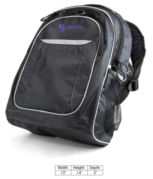 Pediatric Ki Mobility Backpack parts diagram