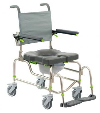 Raz Design RAZ-AP Attendant Propel Rehab Shower Commode Chair