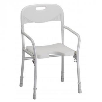 Foldable Travel Shower Chair with Arms & Back