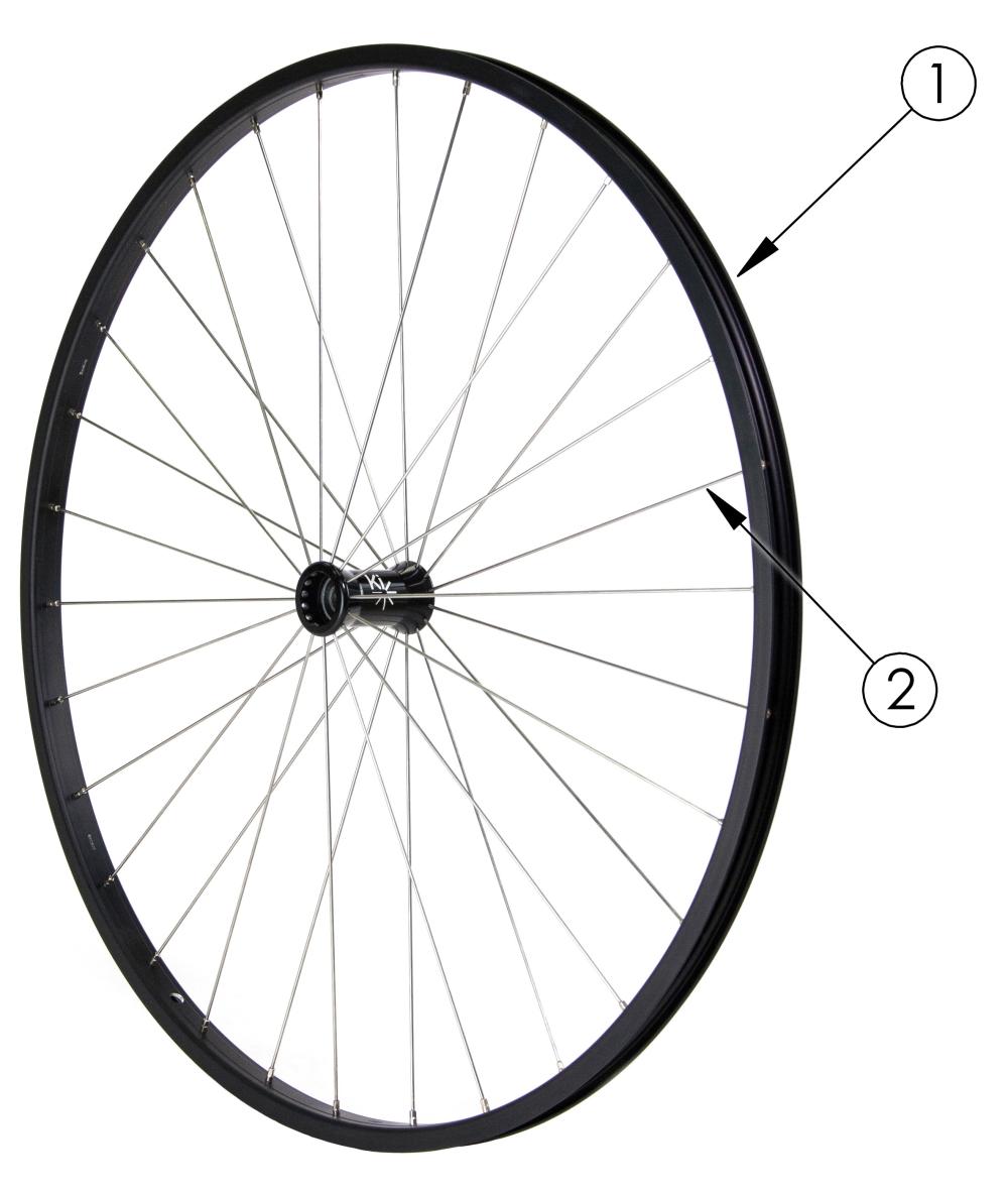 (discontinued) Rogue Xp Spoke Wheel parts diagram