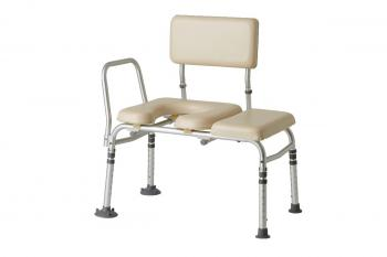 Guardian Padded Transfer Bench w/ Commode Opening