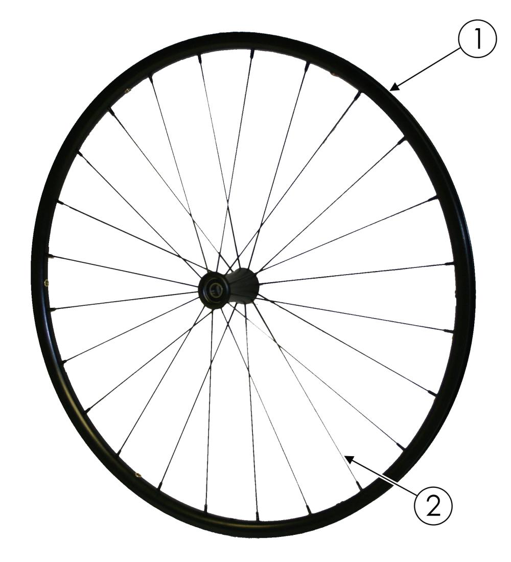 Superlight Spoke Wheel parts diagram
