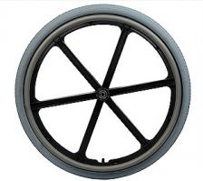 "Quickie 6 Spoke Mag 24"" Wheel Complete"