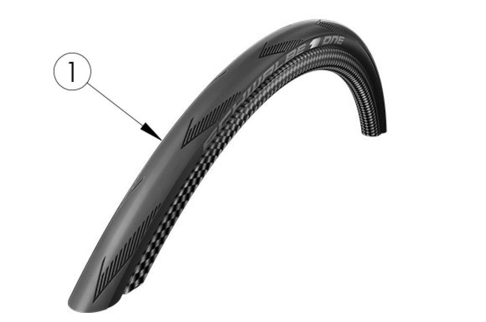 Schwalbe One Tire parts diagram