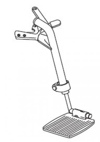 Footrest Assembly - EJ Shower Chair
