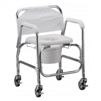 Rolling Shower Commode Chair w/ 4