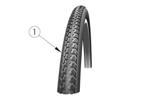 Schwalbe Hs-127 Tire parts diagram