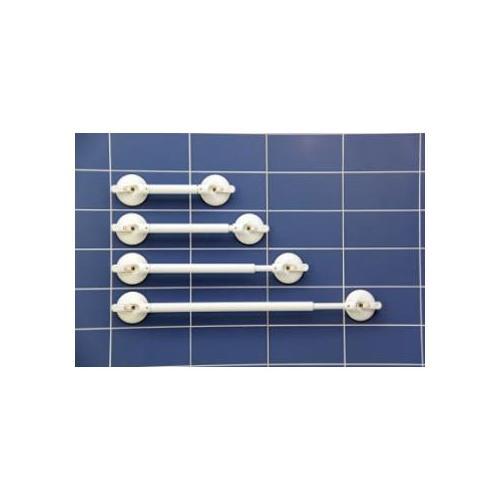 Mobeli Telescopic Bath and Shower Grab Handles w/ Safety Indicator