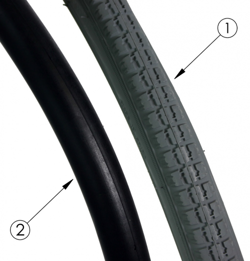 Rogue Xp Pneumatic Tire With Airless Insert parts diagram