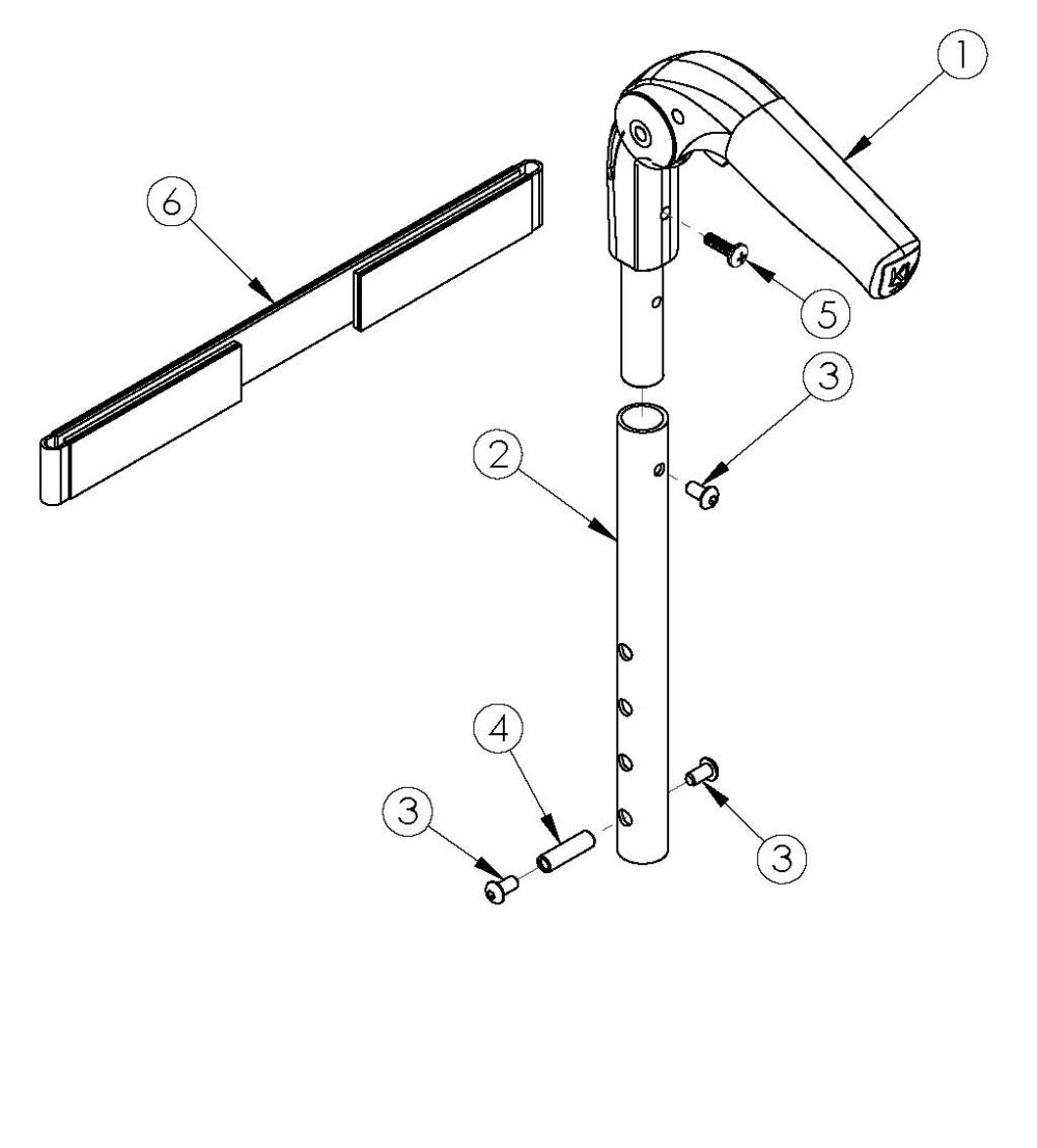 Rigid Fold Down Push Handle parts diagram