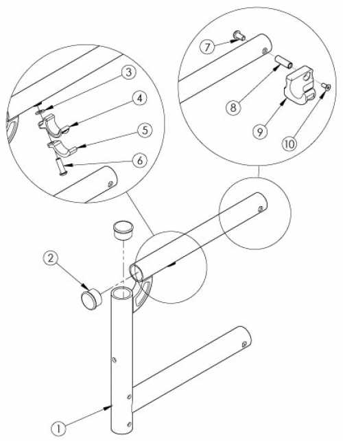 Catalyst Swing Away Front Frame parts diagram