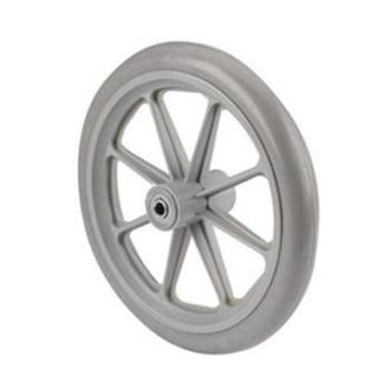 8 x 1 in. 8-Spoke Grey Caster Wheel Assembly