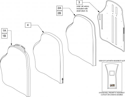 J3 Sh Pa Backrest parts diagram