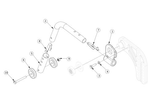 Liberty Ft Rear Anti-tip parts diagram