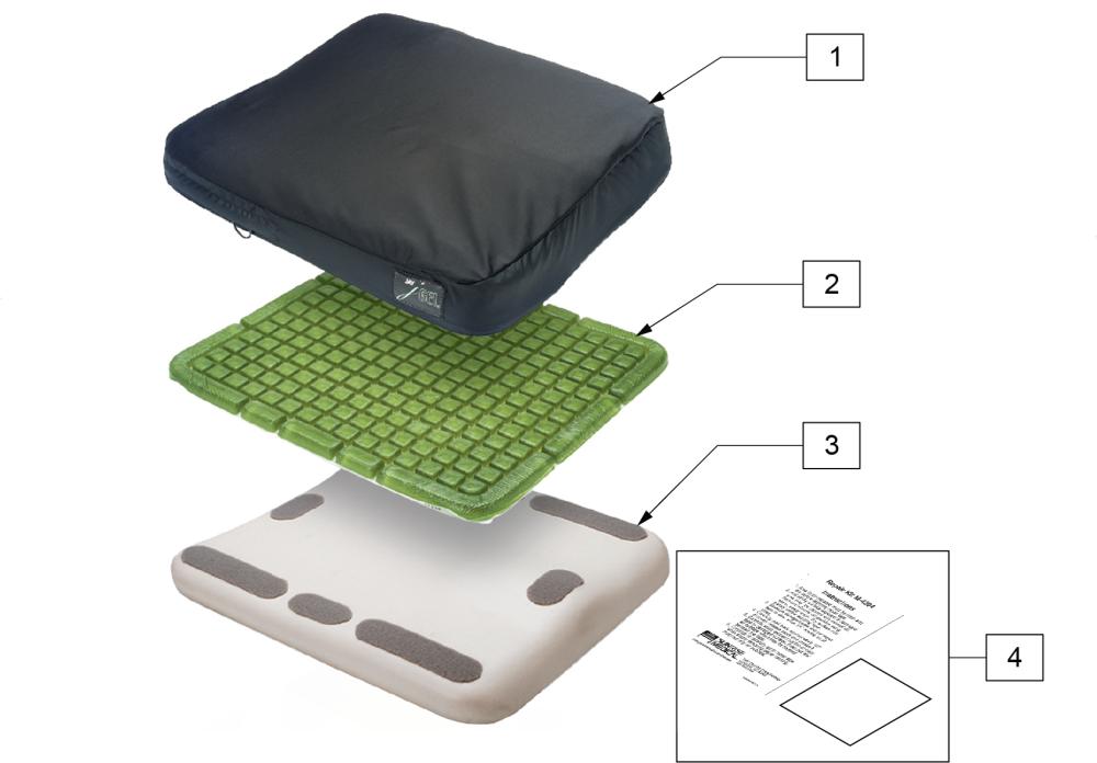 Jay J-gel Cushion parts diagram