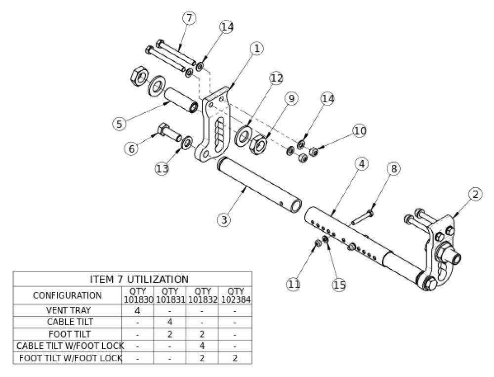 Focus Cr Inverted Axle Plate parts diagram