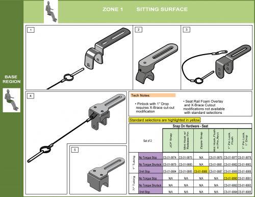 Cs-01-seat Step 6 - Select Attachment Hardware Front (3of7) parts diagram