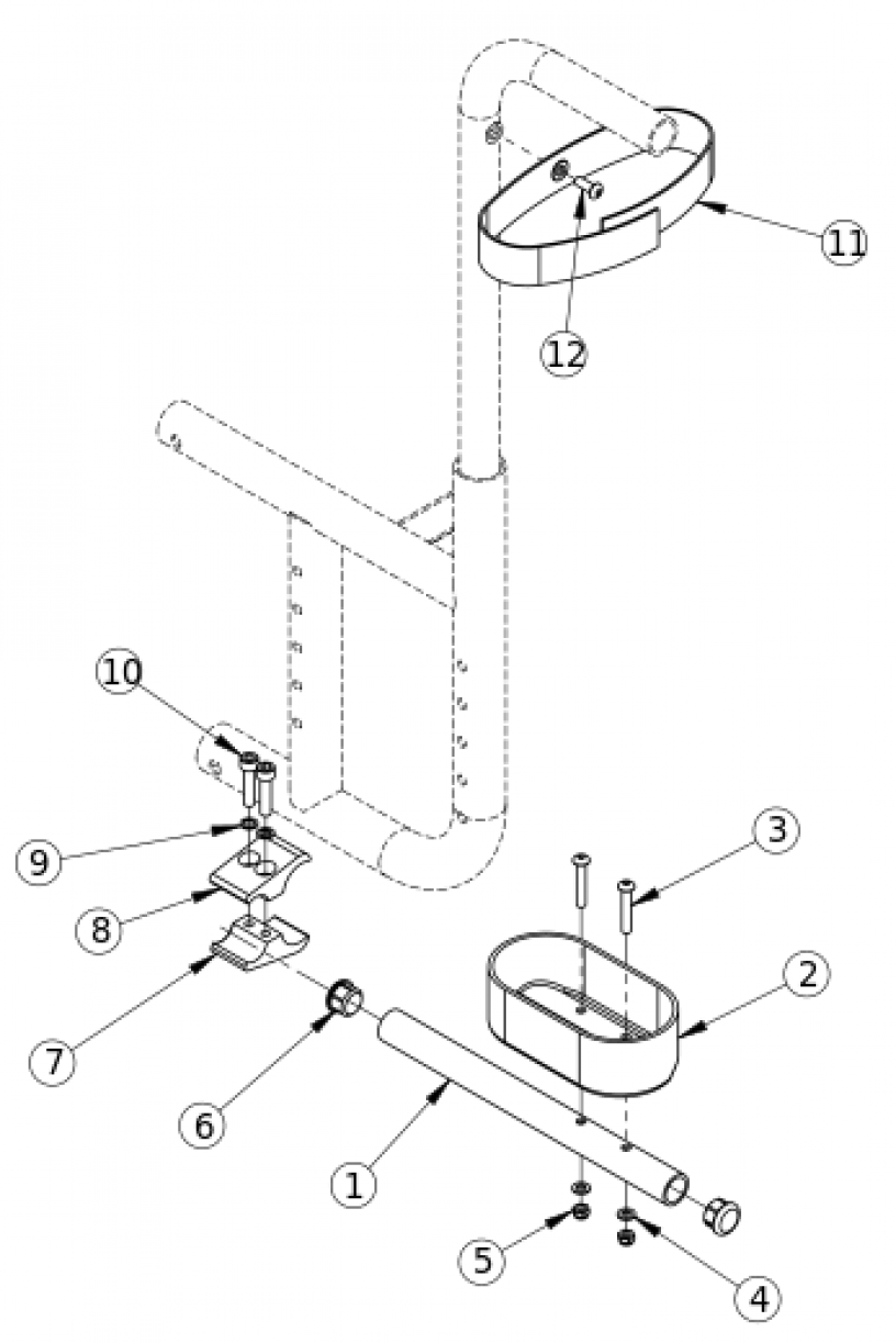 Catalyst Cane And Crutch Holder parts diagram