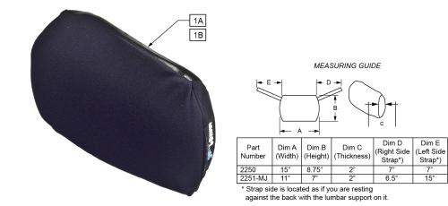 Jay Lumbar Support parts diagram