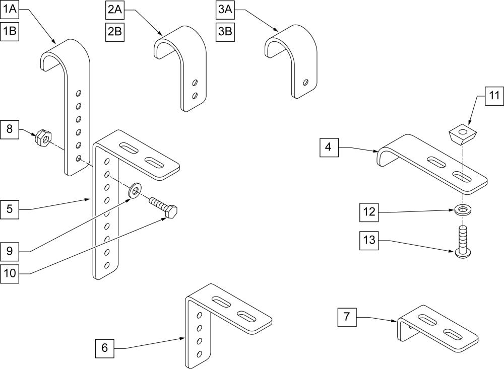 Seat Hooks & Adjustment Brackets parts diagram