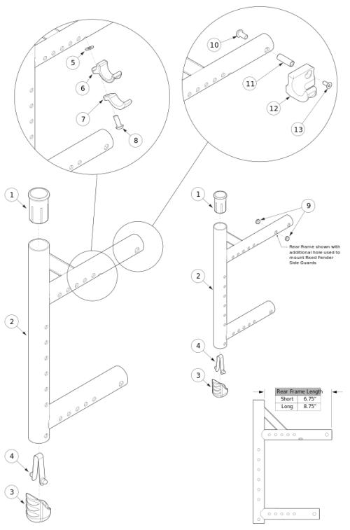 Catalyst 5vx Rear Frame parts diagram