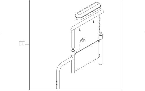 Height-adjustable Armrest Desk Padded (2000, 3000, 4000 Recliner) parts diagram