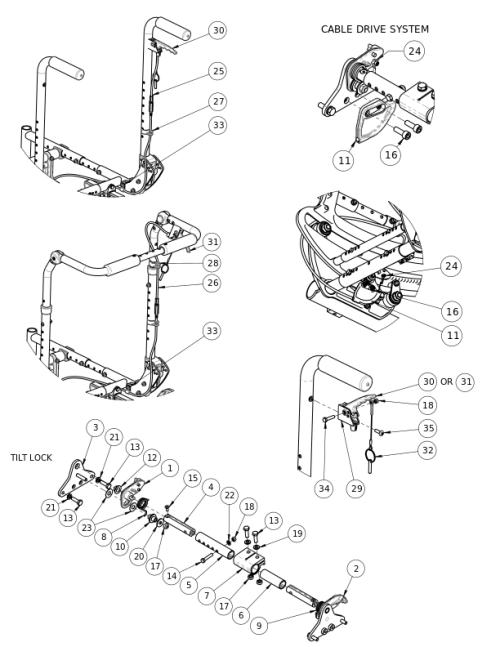 (discontinued 1) Focus Cr Hand Tilt parts diagram