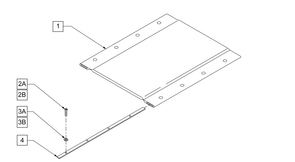 Padded Seat Sling parts diagram