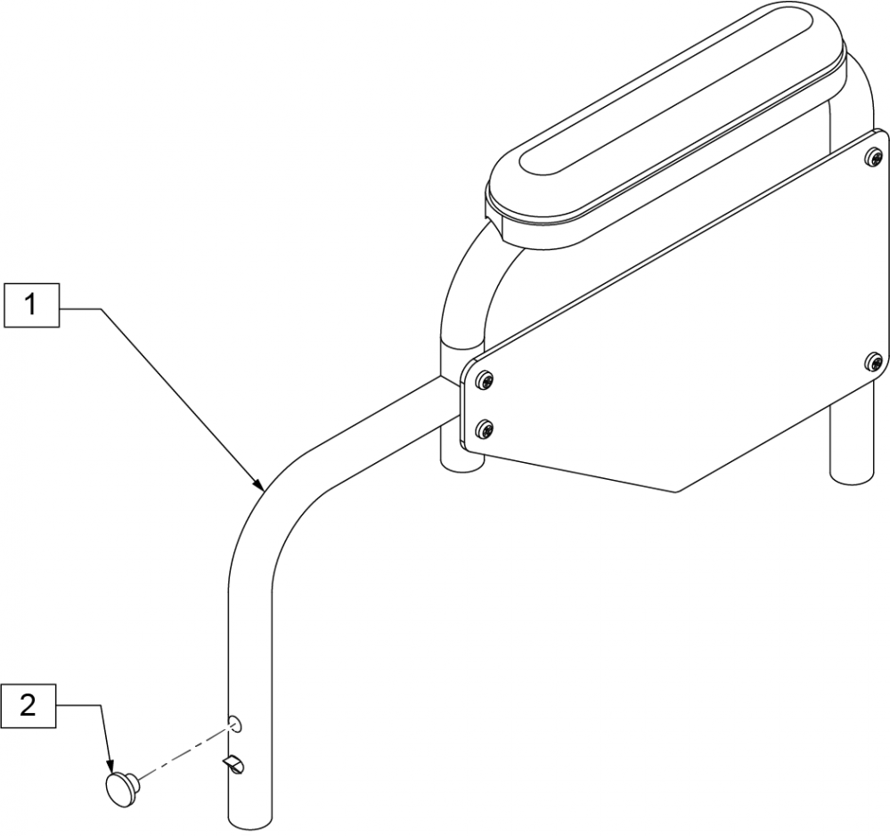 Armrest Desk Padded (3000) parts diagram