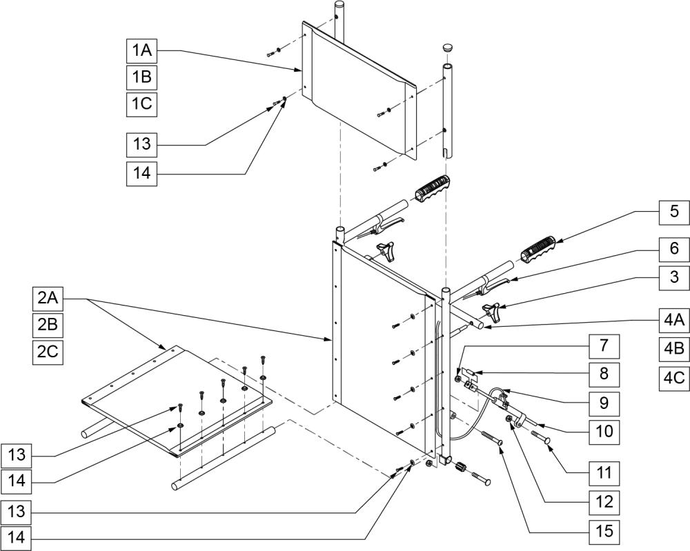 Recliner Backrest parts diagram
