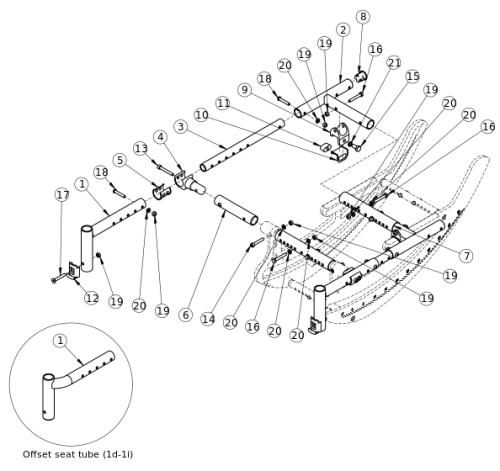 Focus Cr Seat Frame parts diagram