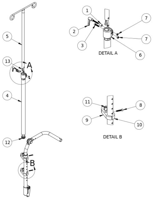 Focus Cr / Flip Iv Pole parts diagram