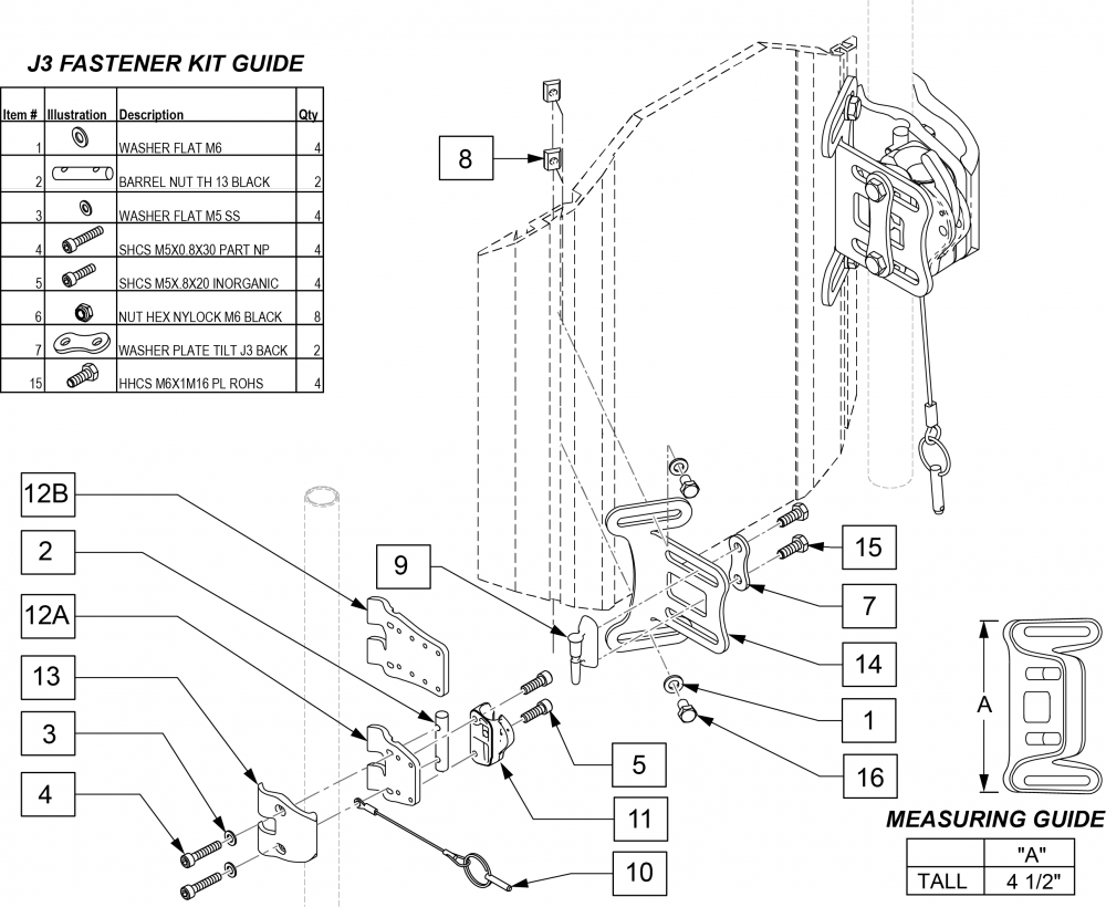 Th Back Hardware (jay Fit) parts diagram